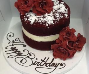 Naked Red Velvet Cake