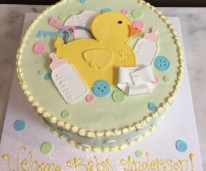 Rubber Ducky Shower Cake