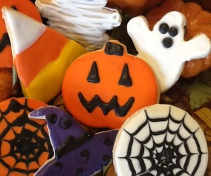 Halloween Iced Cookies-Assorted Festive Designs