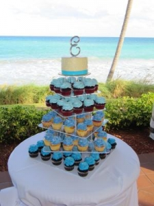 Beach Cupcake Tower