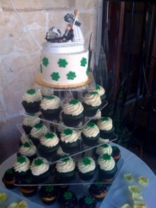 St. Patrick's Day Cupcake Tower