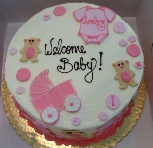 Baby Shower Icon Cake