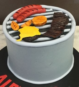 Barbeque Grill Cake