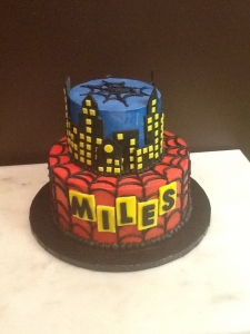 Batman & Spiderman Cake