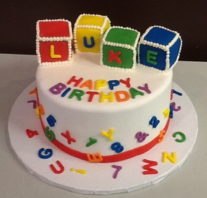 Building Block Birthday Cake