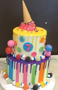 Candy Land Ice Cream Cone Cake
