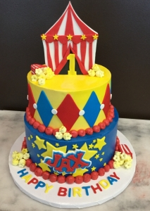 Circus Tent Two Tier Cake