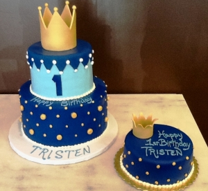 Crown First Birthday Cakes