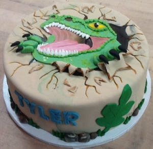 Dinosaur Face Cake