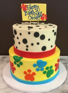 Dog Paws & Dots Cake