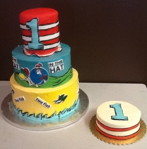 Dr. Suess Birthday and Smash Cake