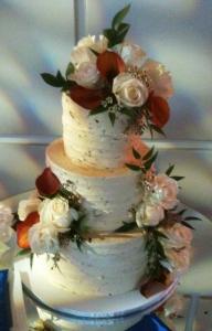 Dulce de Leche Vintage Wedding Cake