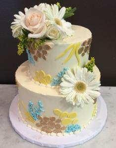 Floral Vintage Wedding Cake