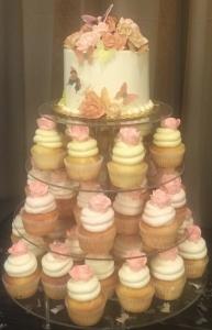 Flowers & Butterflies Cupcake Tier (2)
