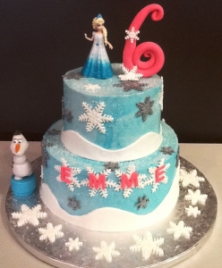Frozen Cake Silver and White
