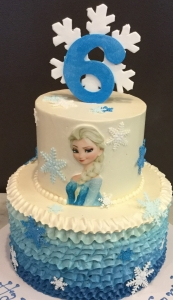 Frozen Elsa Face Cake