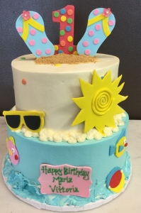 Fun in the Sun Birthday Cake