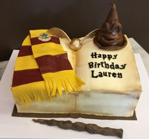 Harry Potter Book Cake with Sorting Hat