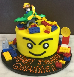 Lego Man Single Tier Cake