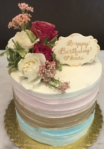 Ombre Birthday Cake with Flowers