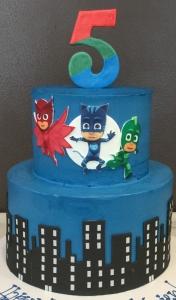 PJ Masks City Scape Tiered Cake