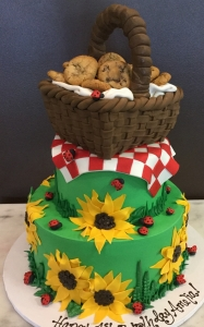 Picnic Basket Birthday Cake