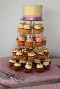 Pink & Grey Cupcake Tier