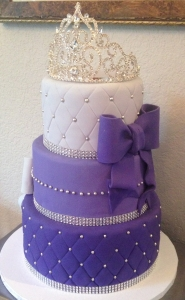 Purple Royal Crown Cake