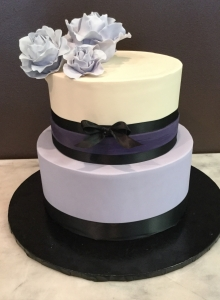 Purple and Black Fondant Cake