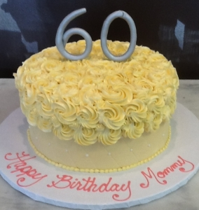 Quilted & Rosette Birthday Cake