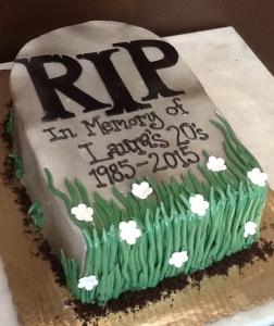 RIP Birthday Cake