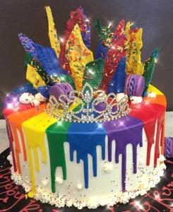 Rainbow Theme Birthday Cake