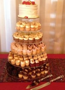 Rustic Wedding Cupcake Tier