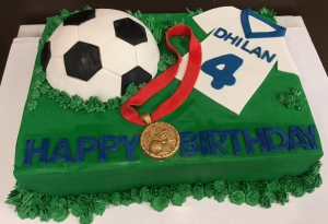 Soccer Ball and Jersey Cake