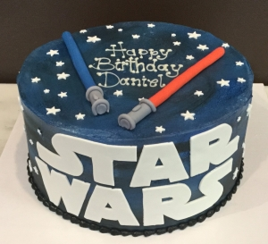 Star Wars Light Saber Cake
