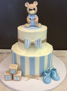 Teddy Bear Theme Baby Shower Cake for Boy