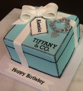 Tiffany Box and Locket Cake